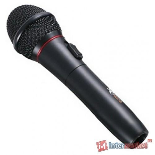 Microphone Ritmix RWM-101, 600 Ohm, 100-10000Hz, 72dB, XLR -> 6.3mm, wireless/wired 5m cable, black