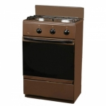 Газовая плита FLAMA CG3202-B, коричневый